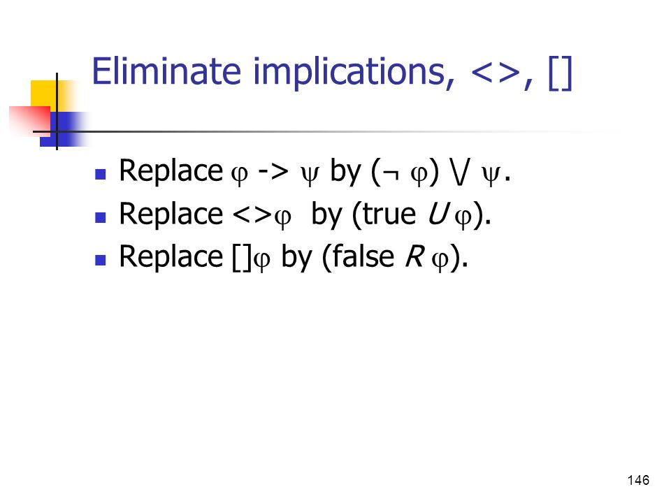 Eliminate implications, <>, []